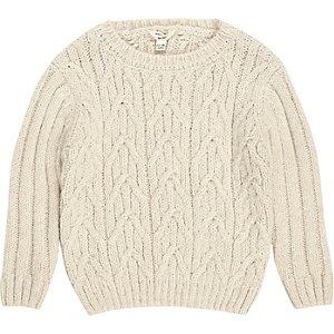 Mini boys cable knit sweater