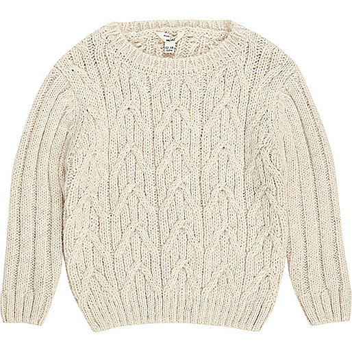 Mini boys cable knit jumper