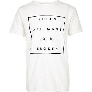 T-shirt blanc texturé pour garçon