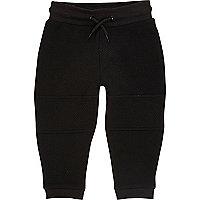 Pantalon de jogging noir texturé pour mini garçon