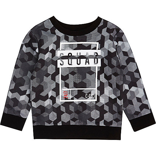 Mini boys grey 'squad' sweatshirt