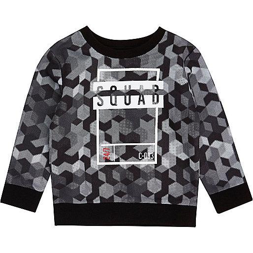 Mini boys grey 'squad' sweatshirt