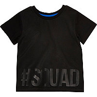 Mini boys black squad tee