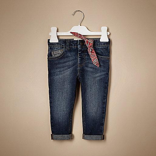Unisex-Bandana-Jeans mit mittlerer Waschung