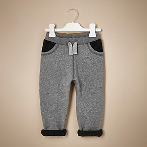 Mini boys grey panel joggers