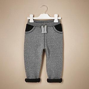 Pantalon de jogging gris à empiècement mini garçon