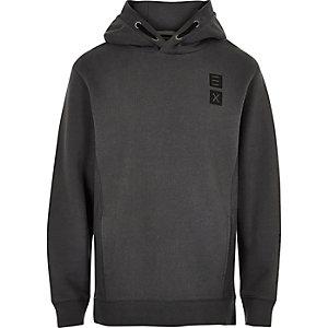Boys grey 'Infinite' print hoodie