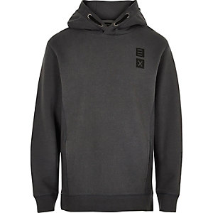 Boys grey 'Tokyo' print hoodie
