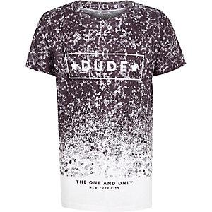 T-Shirt mit Muster in Schwarz und Weiß
