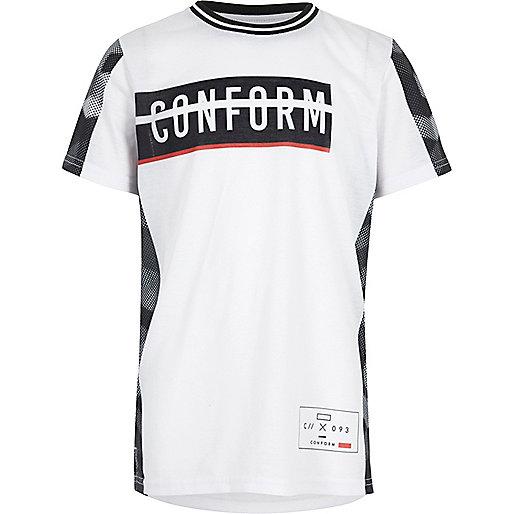 T-shirt blanc imprimé Conform pour garçon