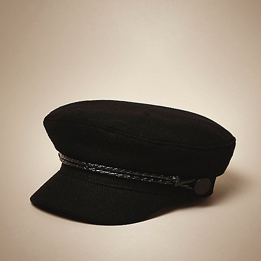 Mini boys navy baker boy hat