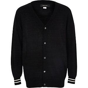 Schwarze, elegante Oversize-Strickjacke