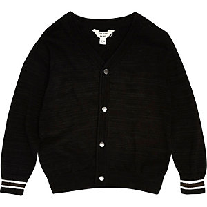 Mini boys black smart oversized cardigan