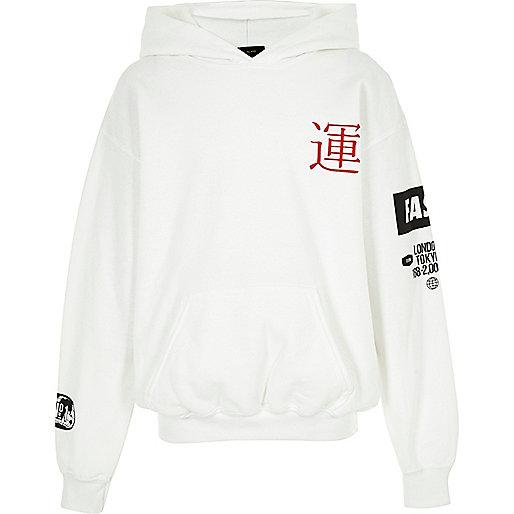 Boys white Tokyo hoodie