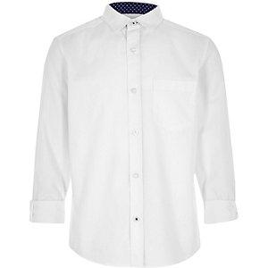Chemise Oxford blanche pour garçon