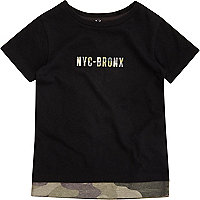 Mini boys black camo T-shirt