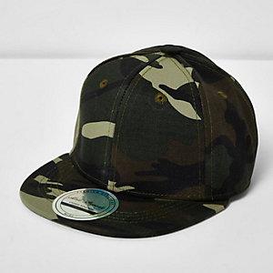 Boys khaki camo cap