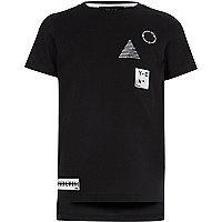 Boys black badge T-shirt
