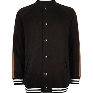 Boys black block bomber jacket