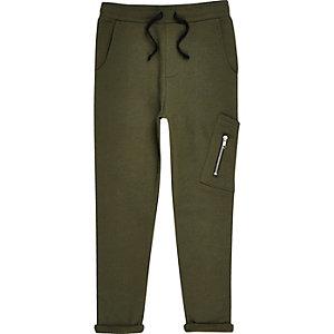 Pantalon de jogging vert kaki style fonctionnel pour garçon