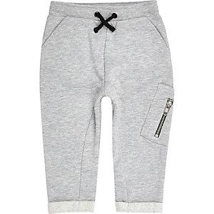 Pantalon de jogging gris style fonctionnel pour mini garçon