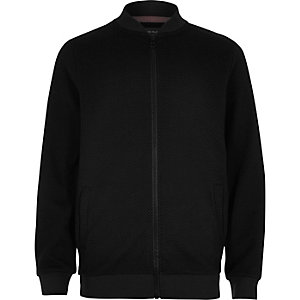 Boys black smart bomber jacket