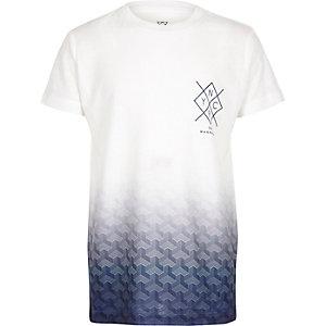 T-shirt imprimé dégradé bleu et blanc pour garçon