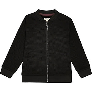 Mini boys black smart bomber jacket
