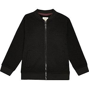 Mini Jungen – Schwarze elegante Bomberjacke