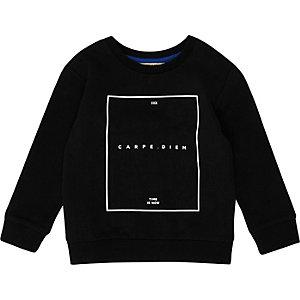 Schwarzes, gemustertes Sweatshirt