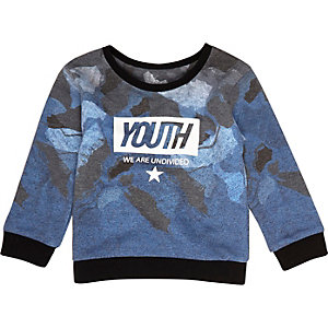 "Blaues Sweatshirt mit ""Youth""-Print"