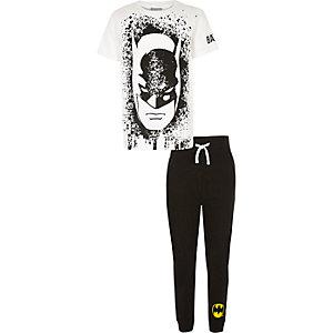Weißes Batman-Pyjama-Set