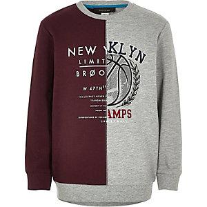 "Graues Sweatshirt mit ""NY""-Print"