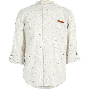 Geflecktes Grandad-Hemd