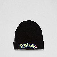 Schwarze Mütze mit Pokémon-Aufnäher
