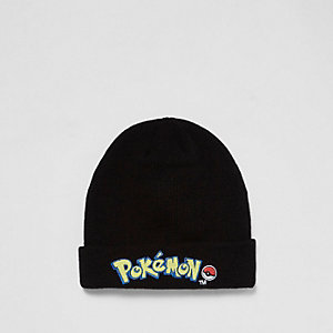 Boys black Pokémon badge beanie