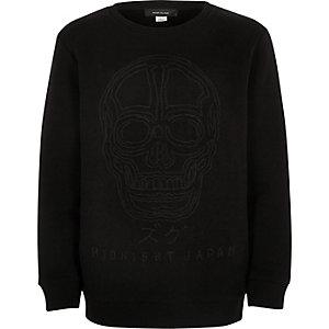 Schwarzes verziertes Sweatshirt