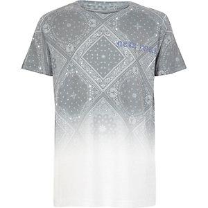 T-shirt blanc imprimé cachemire dégradé pour garçon