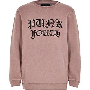 Bedrucktes Sweatshirt in Rosa