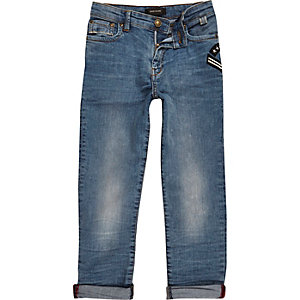 Boys blue wash slim fit jeans