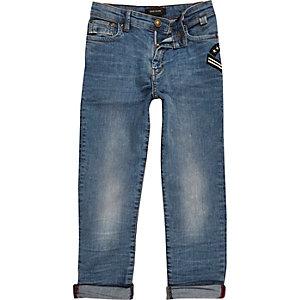 Boys blue wash slim fit jeans