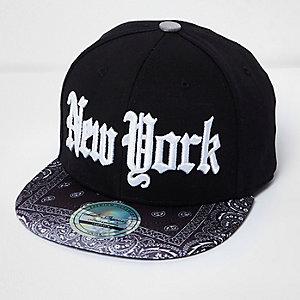 Boys black New York cap