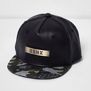 Boys black metallic camo cap