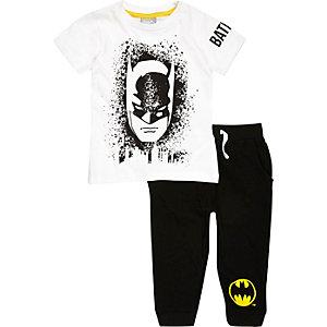 Schwarzes Pyjama mit Batman-Print