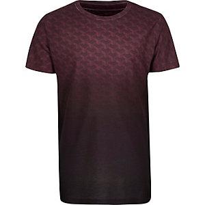 T-shirt violet à imprimé géométrique dégradé pour garçon