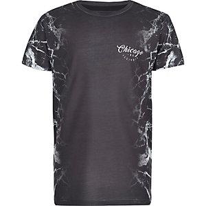 T-shirt gris à imprimé éclair sur les côtés pour garçon