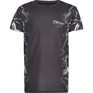 Boys grey lightning side print T-shirt