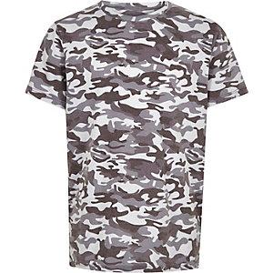T-shirt imprimé camouflage bleu pour garçon