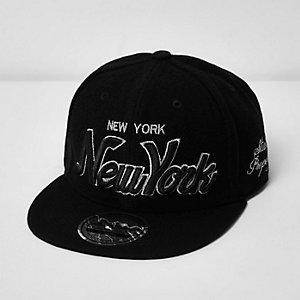 Boys black New York signature cap