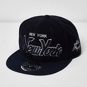 Boys navy New York signature cap